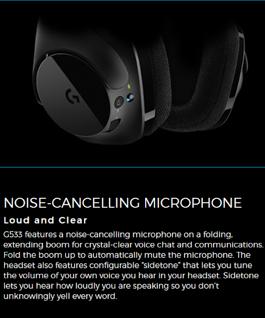 Logitech G533 Pro Grade Wireless Lossless Digital Audio