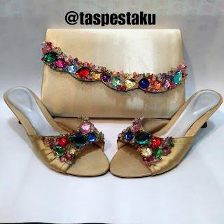 Handmade Tas Pesta Clutch Bag Cream Cantik