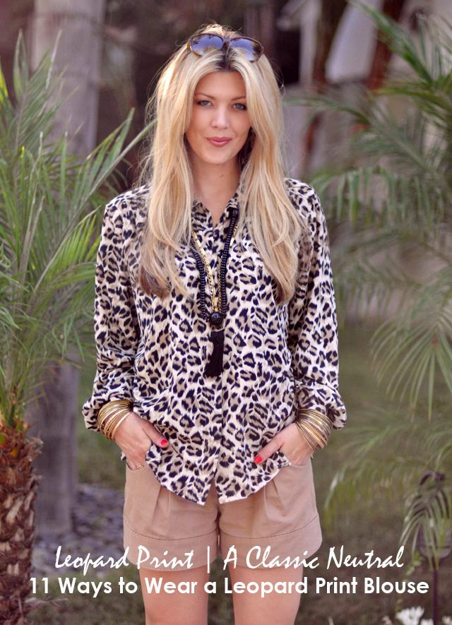Ways to Wear a Leopard Print BLouse