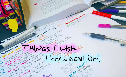 Things I wish I had known... Before going to Uni!