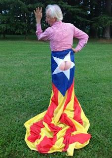 Boadella, cul, culo, bandera, estelada