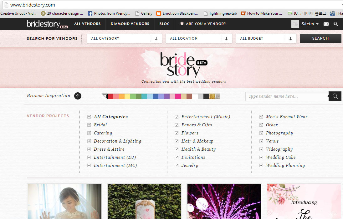BrideStory.com, wedding portal, source of wedding vendors information