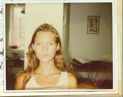 Young Kate Moss Polaroid — Wavy Hair Inspiration