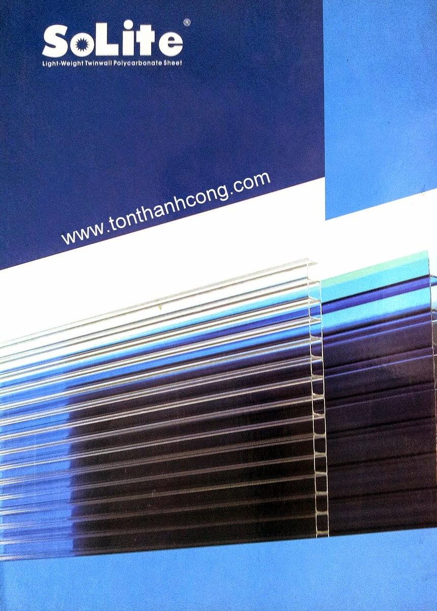 Logo và thương hiệu tấm lợp lấy sáng Polycarbonate rỗng ruột SOLITE Việt Nam