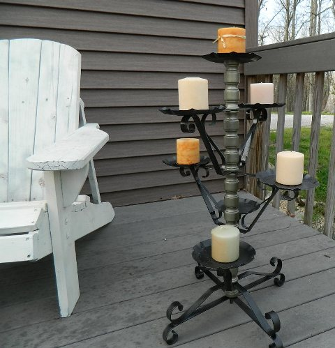 outdoor candelabra re defind rusty old plant stand to beautiful outdoor candelabra
