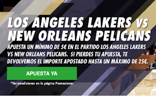 circus promocion 25 euros NBA Lakers vs New Orleans 23 octubre