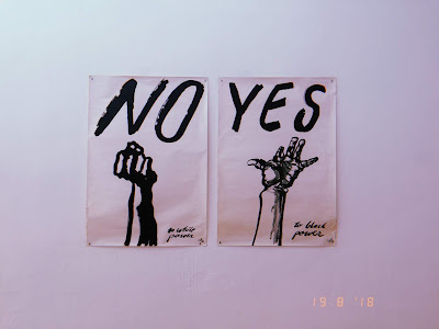no to white power yes to black power political protest posters