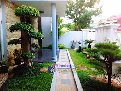 Tukang taman surabaya Taman Minimalis Belakang Rumah