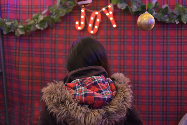 Abercrombie and Fitch Jacket plaid lining furry hood brown A and F jacket A and F jacket Christmas decor Christmas decoration Christmas decor inspiration plaid gazebo joanna joy