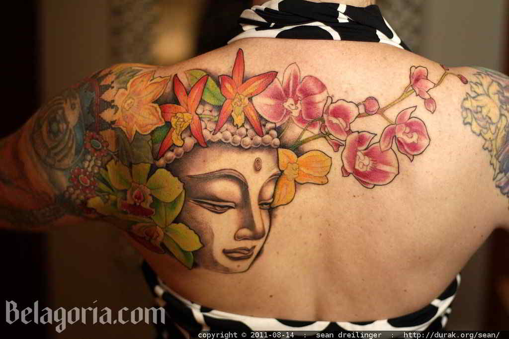 Un tatuaje budista para mujer