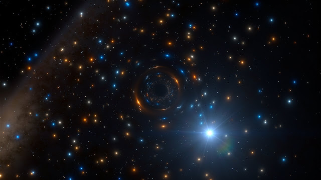 Odd behaviour of star reveals lonely black hole hiding in giant star cluster