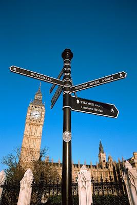 London England Famous Landmark Signpost