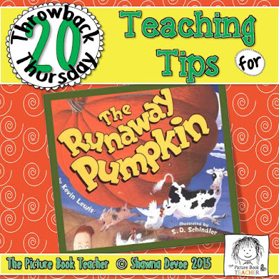 The Runaway Pumpkin by Kevin Lewis TBT - Teaching Tips.