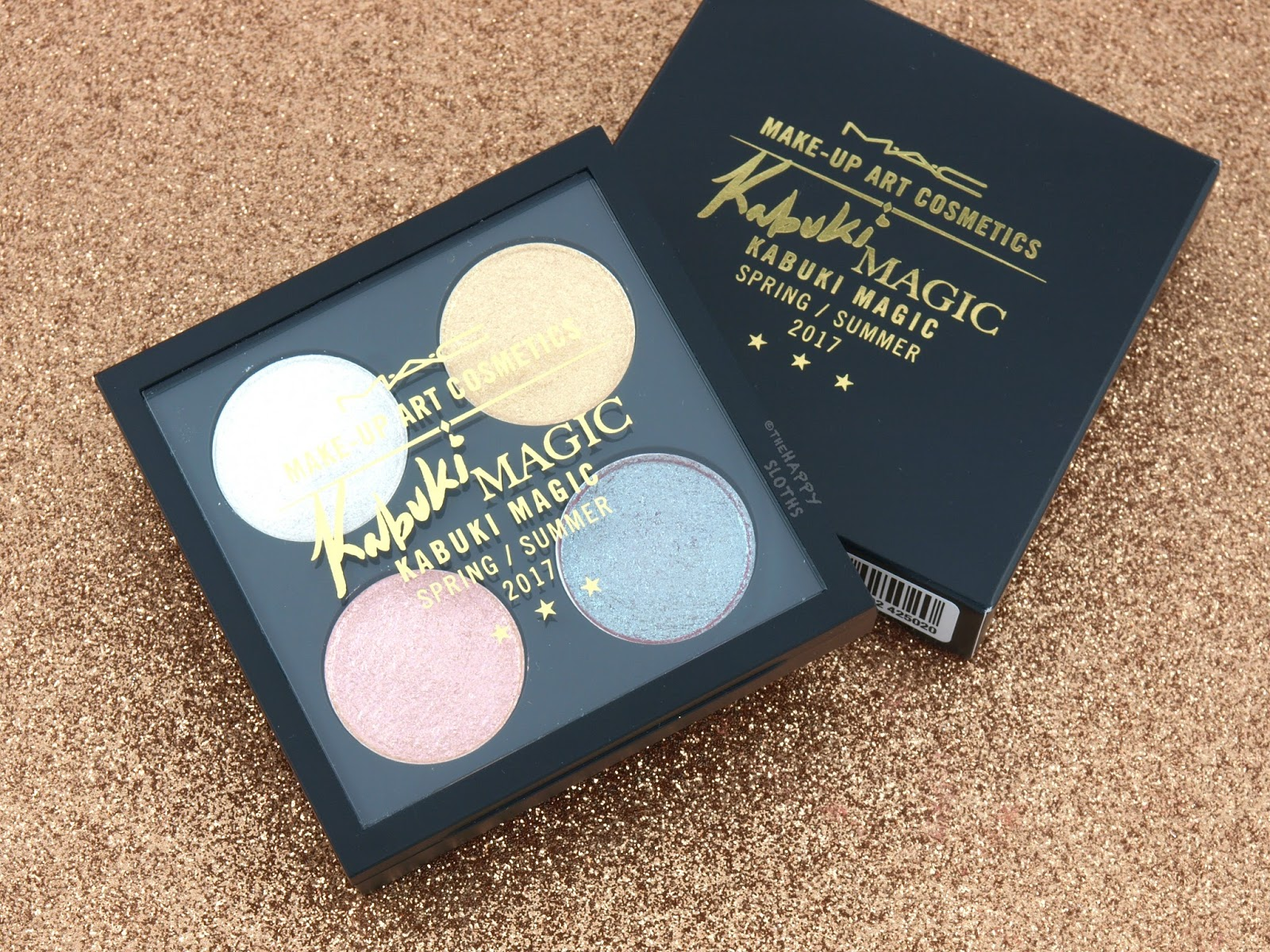MAC Make-up Art Cosmetics Collection | Kabuki Magic Dazzleshadow X 4 Palette: Review and Swatches