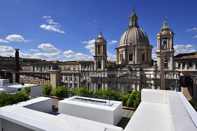 Terraço aberto do Lifestyle Suite Rome