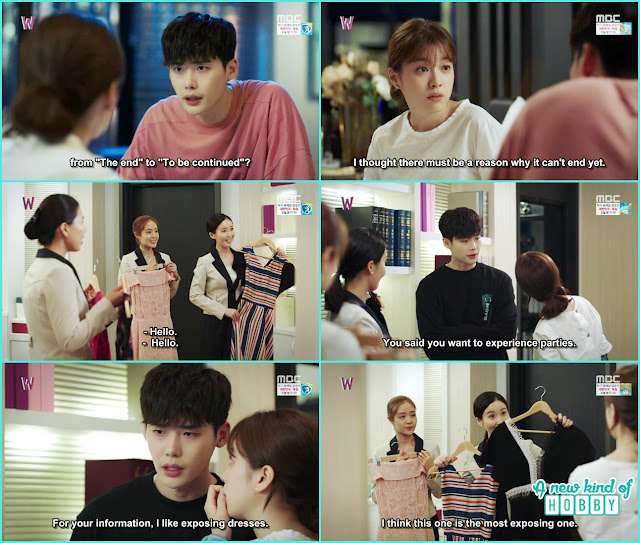 yeon joo and kang chul select the party dress - W - Episode 8 Review