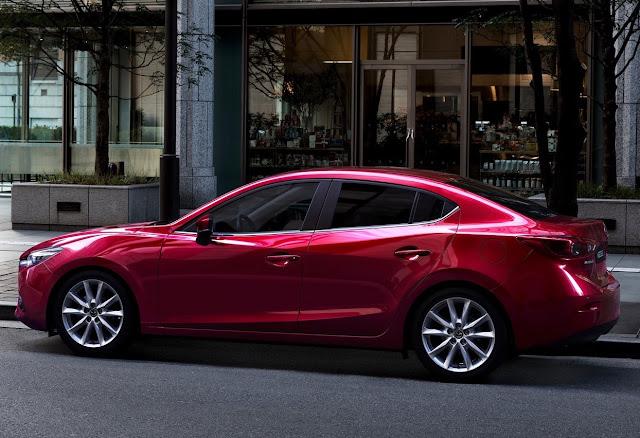 2017 Mazda 3 sedan red