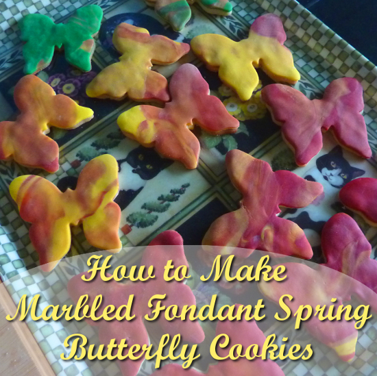 Spring butterfly cookies cookie fondant iced icing
