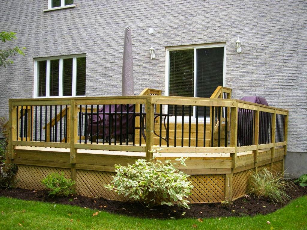 Awesome backyard deck design on Small Back Deck Decorating Ideas id=55391