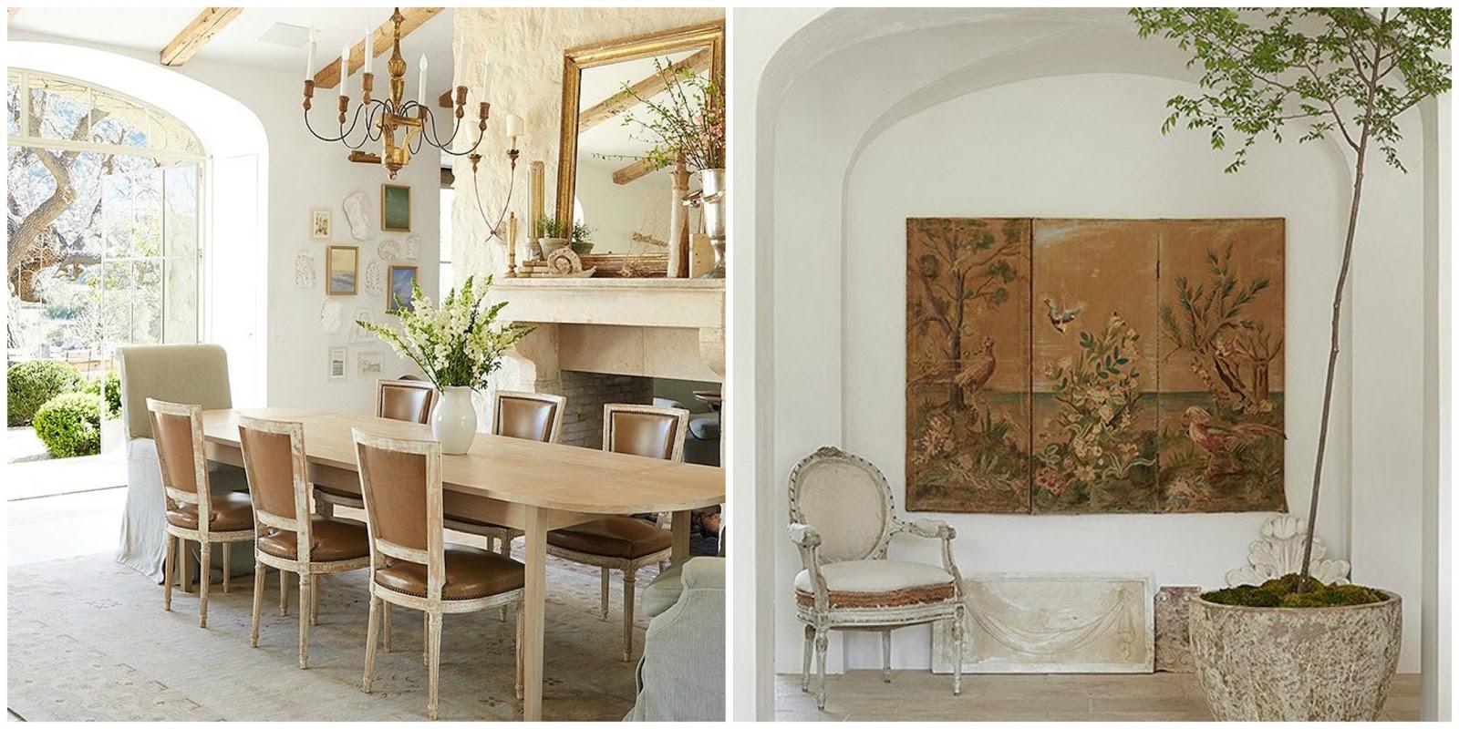 Dining room Swedish antiques in modern farmhouse neutral European antique style Patina Farm Giannetti Home