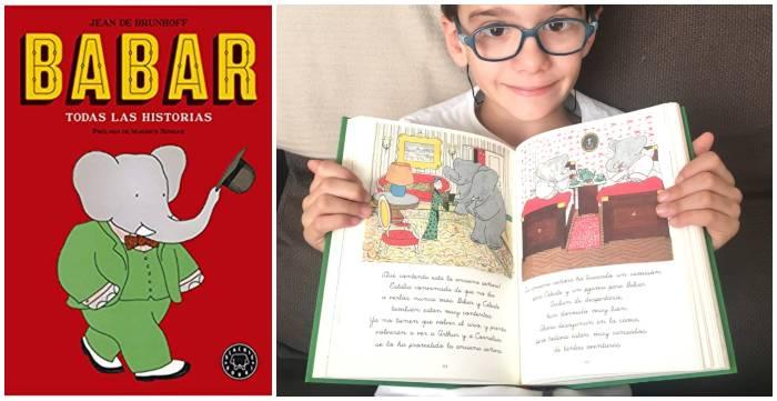 cuentos libros infantiles en letra ligada aprender a leer, babar todas las historias