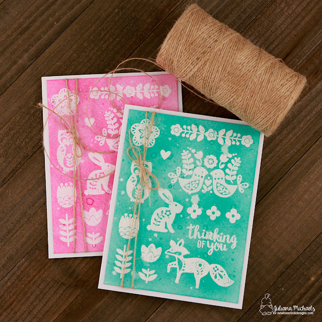 Thinking Of You Card by Juliana Michaels featuring Newton's Nook Designs Cottage Garden Stamp Set