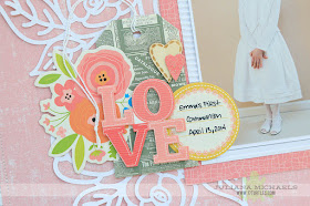 Love First Communion Scrapbook Page by Juliana Michaels featuring Ruby Rock-it Happy Days Collection