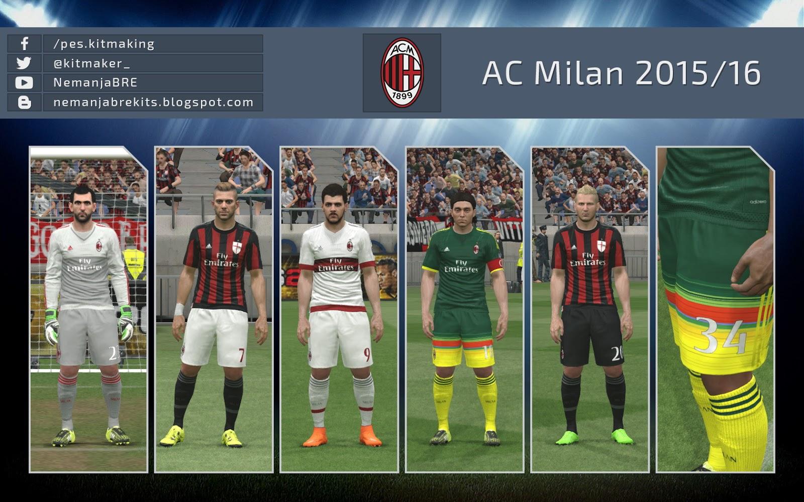 Pes-modif: PES 2016 AC Milan 2015/16 GDB By Nemanja