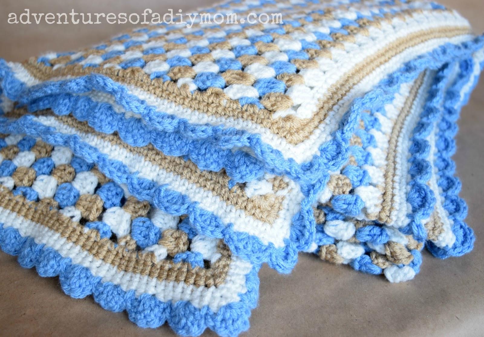 Crochet Pattern For Granny Stripe Baby Blanket : Granny Stripe Crocheted Blanket - Adventures of a DIY Mom