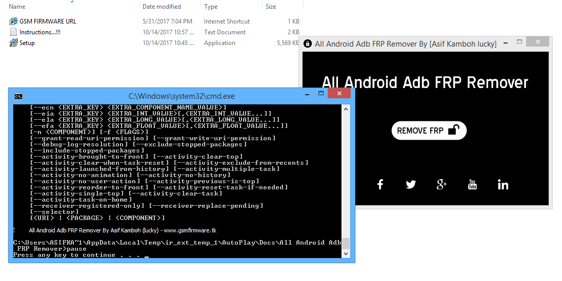 All Android ADB FRP Remover by [Asif Kamboh Lucky] [updated] - GSM