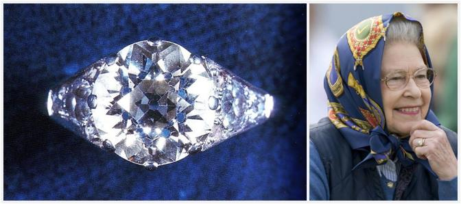 Queen Elizabeth Ii The S Diamond And Platinum Ring Seems Somewhat Rare Among All Colored Stone Rings Received By Her Family Members During