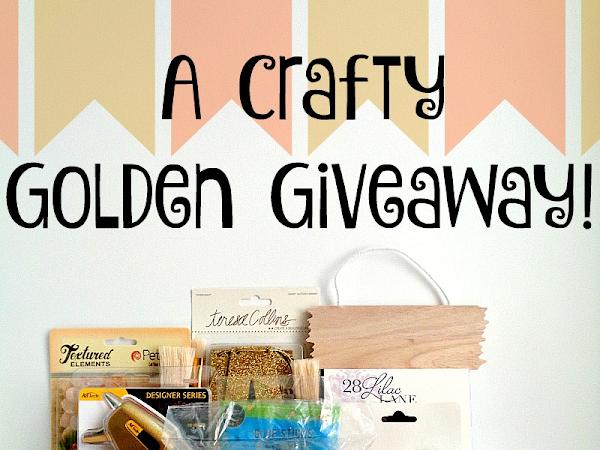 A  Crafty Golden Giveaway on Instagram Winner