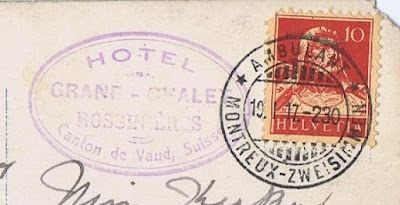 Postmark from a postcard from Angus to Connie