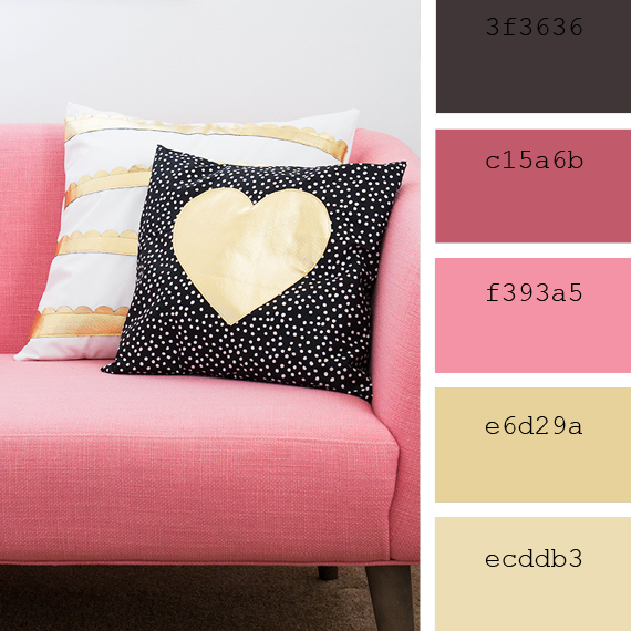 valentine's day color palette, ideas to combinate pink