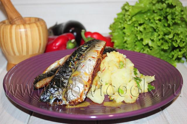 рецепт скумбрии с копченой паприкой и острым картофельным салатом от гордона рамзи
