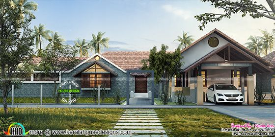 Luxury one floor home plan