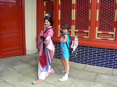 Nadia Posing with Mulan at Epcot