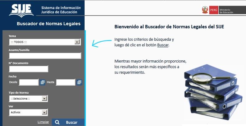 ¿Qué es el SIJE? Sistema de Información Jurídica del Ministerio de Educación - MINEDU - www.minedu.gob.pe