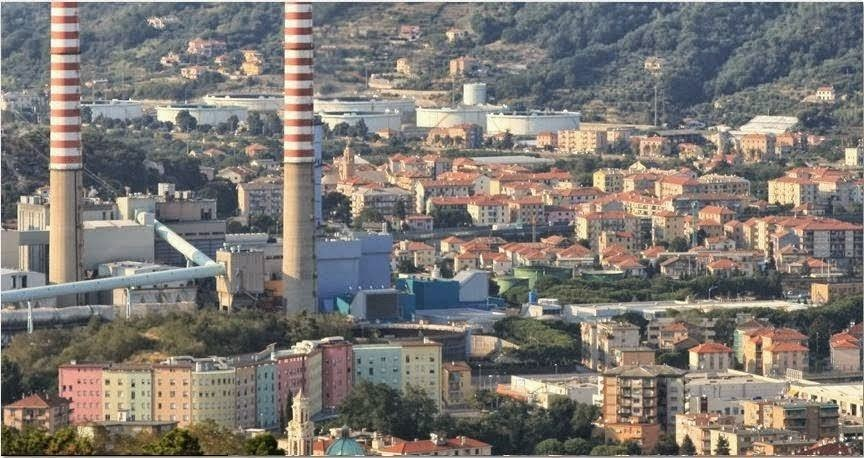 TIRRENO POWER di VADO LIGURE . LA CENTRALE IN CITTA'