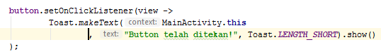 OnClickListener Menggunakan Lambda Expression Java 8