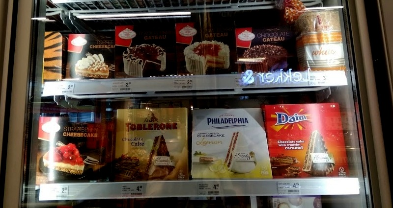 Coop supermarket Rotterdam city center toblerone philidelphia daim cakes