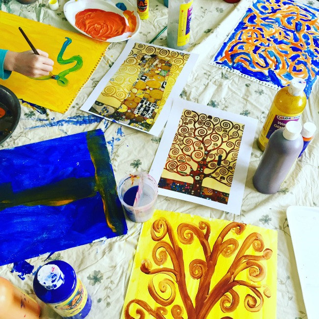 Exploring patterns with Gustav Klimt - Exploring Famous Artists for kids