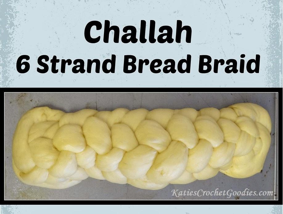 challah 6 strand bread braid