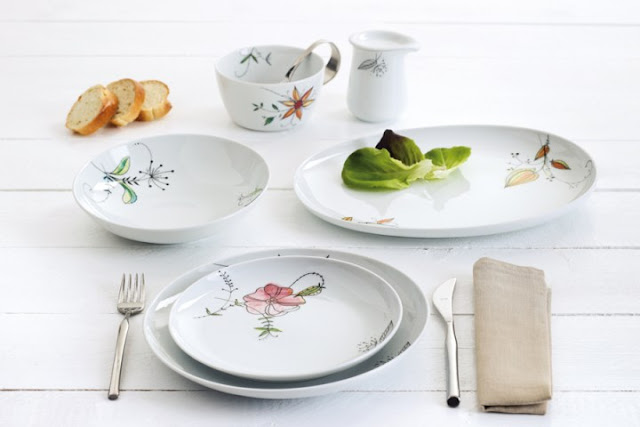 Dishes and Tableware With Flowers 2