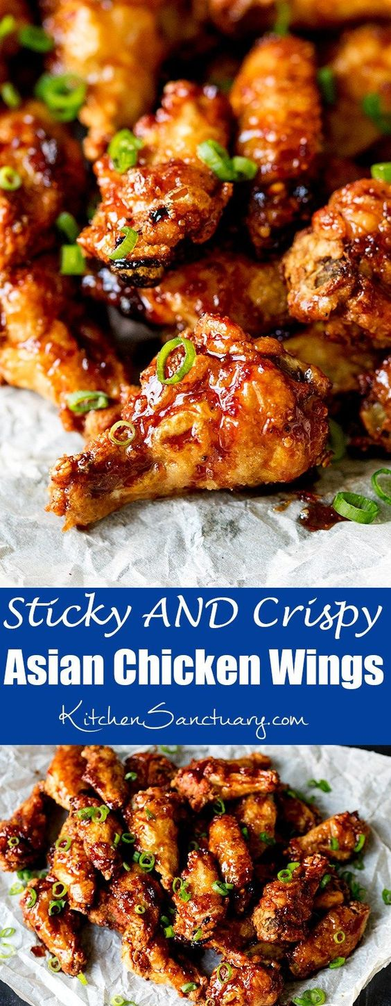 Sticky AND Crispy Asian Chicken Wings
