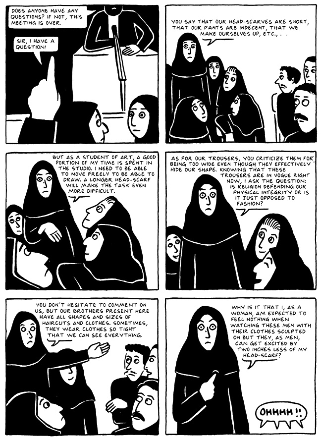 Read Chapter 15 - The Convocation, page 143, from Marjane Satrapi's Persepolis 2 - The Story of a Return