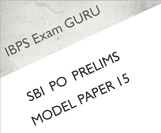 Preliminary pdf po - exam sbi paper model