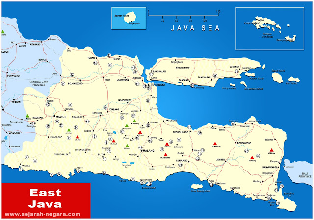 image: East Java Map High Resolution