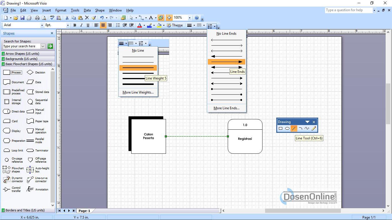 Cara mudah membuat dad atau dfd dengan visio 2007 belajar dan langkah mudah membuat arus data dfd dengan visio ccuart Choice Image