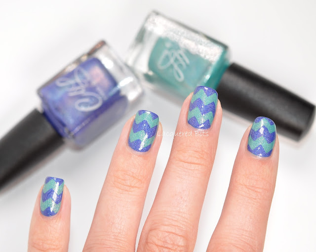 Blue Turquoise Chevrons